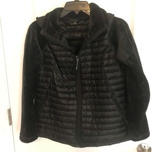 Jackets & Blazers - Awesome quilted nylon and faux fur jacket.